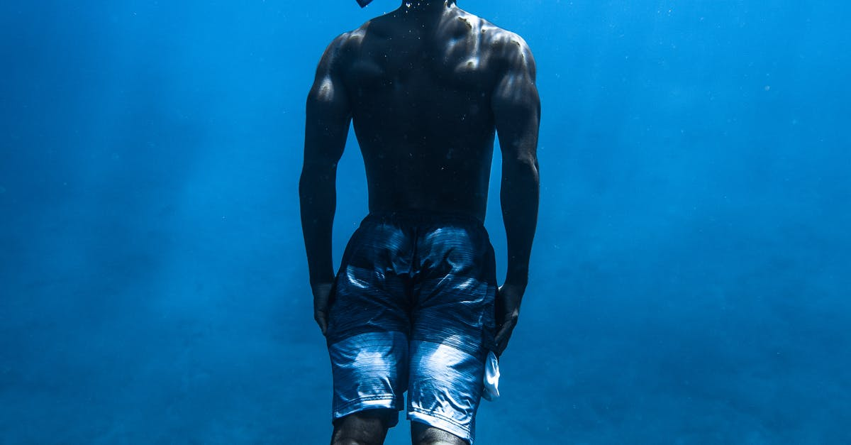 A man in a pool of water